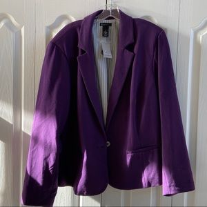 Deep purple jacket from Lane Bryant. Size 26